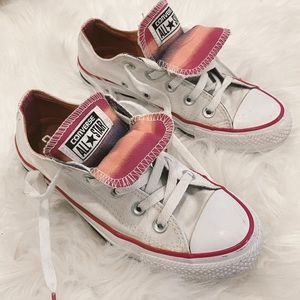 Converse Pink Tie Dye Double Tongue Low Top Shoes